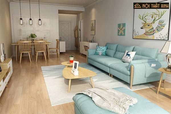 Phòng khách căn hộ chung cư nhỏ thường lựa chọn những bộ ghế sofa theo xu hướng mới – đơn giản mà tiện ích