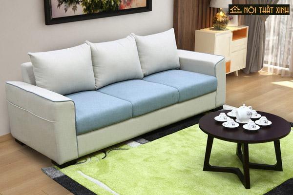 Thiết nhỏ gọn, êm ái với màu sắc nhẹ nhàng bắt mắt bộ sofa chung cư nhỏ này sẽ là gợi ý bạn có thể tham khảo