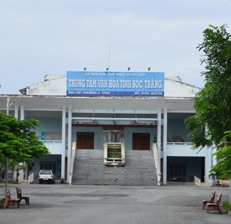 Trung tâm văn hóa tỉnh Sóc Trăng trước khi xảy ra cháy.