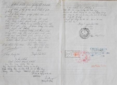 Giấy tay do ông Phạm Hoàng Hơn cung cấp cho tòa được cho là có chữ ký khống và đã bị chỉnh sửa nội dung.