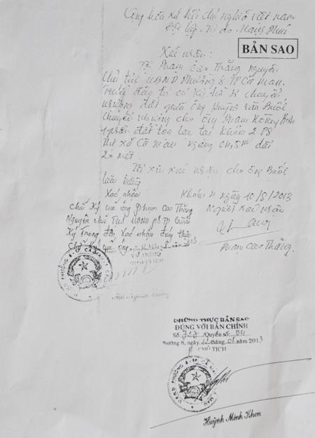 Ông Phạm Cao Thăng (nguyên Chủ tịch UBND phường 8) xác nhận hồ sơ sang nhượng đất giữa ông Huỳnh Văn Buốl và ông Phạm Hoàng Hơn vào năm 1993 là do ông ký, chứ không phải ông Trần Hoàng Mỹ như trong hồ sơ thể hiện.