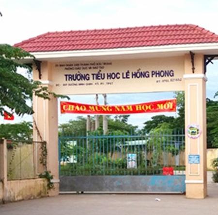 Trưởng Tiểu học Lê Hồng Phong, nơi có một số em học sinh đọc, viết chưa rành dù đã học lớp 3.