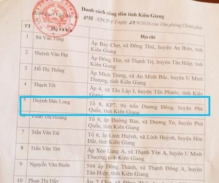 Văn phòng Chính phủ có văn bản chuyển đơn phản ánh của người dân đến UBND tỉnh Kiên Giang đề nghị kiểm tra, giải quyết.