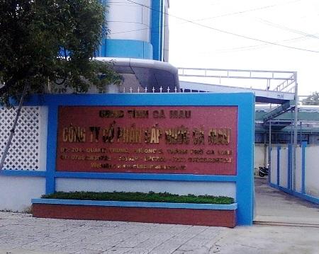 Cty Cấp Nước Cà Mau, nơi có hơn trăm lao động bất ngờ bị mất việc.