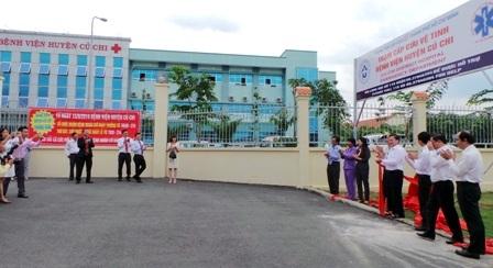 Sau 13 khoa - phòng vệ tinh, bệnh viện Huyện Củ Chi trở thành Trạm Cấp cứu Vệ tinh thứ 15 của thành phố