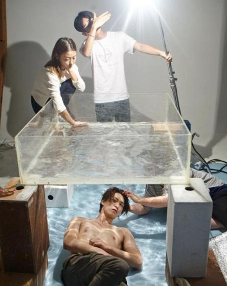 Đây là cách có được hiệu ứng nước trong một bức ảnh thời trang.