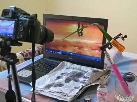 Còn đây là cách mà nhiếp ảnh gia thực hiện để có được bức hình nghệ thuật kỳ công như trên.