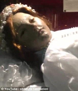 Hình ảnh xác ướp cắt ra từ đoạn video