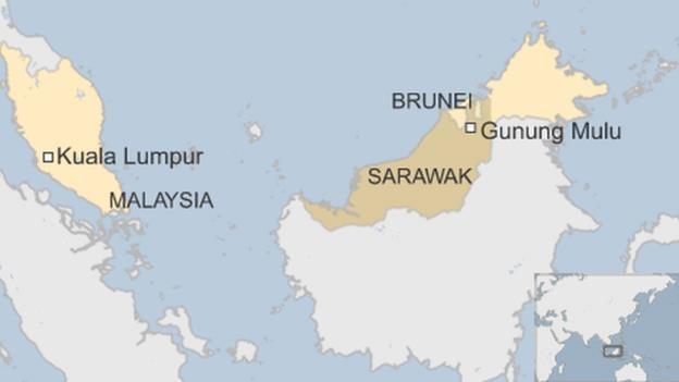 Khu vực Sarawak là nơi du khách này bị mất tích