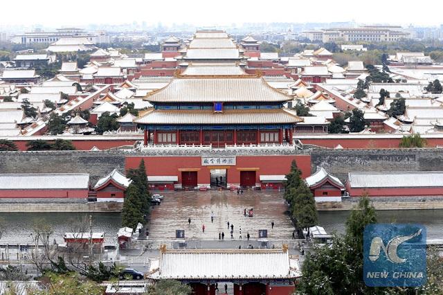 Trước đó, người dân ở Bắc Kinh cũng đón trận tuyết đầu mùa