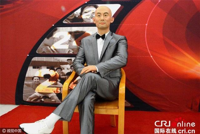 Tượng sáp của nam diễn viên nổi tiếng người Trung Quốc Cát Ưu gần như khác hẳn ngoài đời, chỉ duy nhất có phần đầu trọc đặc trưng