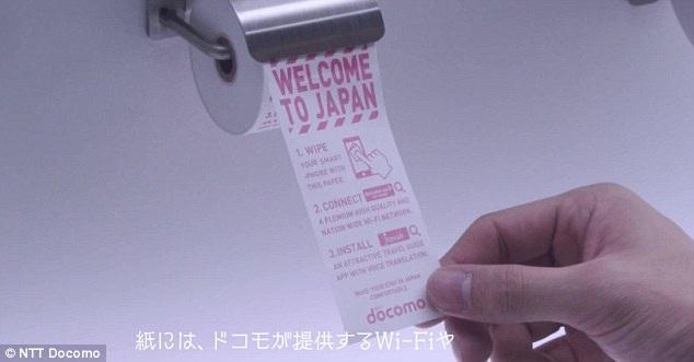 Giấy vệ sinh dành cho điện thoại
