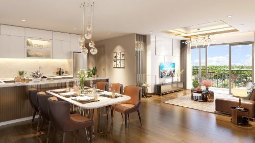 Các căn hộ tại Eco-Green Saigon có thiết kế thoáng rộng, trang bị nội thất cao cấp từ những thương hiệu hàng đầu thế giới