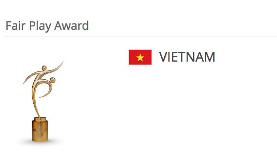 Việt Nam giành danh hiệu Fair-play của World Cup futsal 2016 - 2