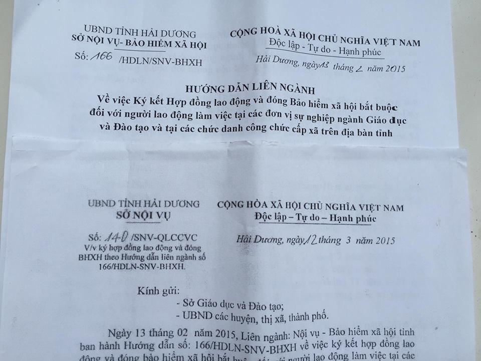 Sau khi nhận thấy Hướng dẫn 166 chưa đảm bảo quyền lợi của người lao động, Sở Nội vụ tỉnh Hải Dương đã ra thêm văn bản số 140 để giải quyết vấn đề này.