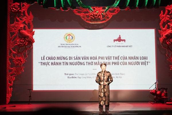 Ông Phạm Sanh Châu, Trợ lý Bộ trưởng Bộ Ngoại giao, Đặc phái viên của Thủ tướng Chính phủ Việt Nam về các vấn đề UNESCO, Tổng Thư ký, Ủy ban Quốc gia UNESCO của Việt Nam phát biểu tại lễ chào mừng.