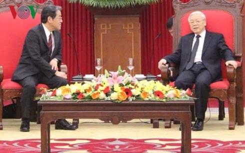 Tổng Bí thư khẳng định, Việt Nam luôn xác định Nhật Bản là đối tác quan trọng hàng đầu và lâu dài