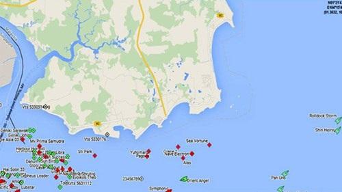 Vị trí tàu Rolldock Storm lúc 03h ngày 28/6.