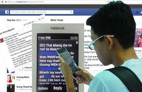 Tin nhắn lừa đảo tung hoành trên điện thoại và mạng xã hội (ảnh chụp từ màn hình). Ảnh: TÚ UYÊN