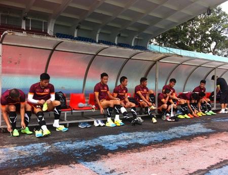 Đây là buổi tập cuối cùng trên sân nhà của đội tuyển, trước khi đá trận bán kết lượt đi