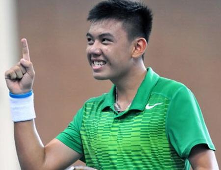 Hoàng Nam thi đấu xuất sắc, giúp đội tuyển quần vợt nam Việt Nam đánh bại Syria