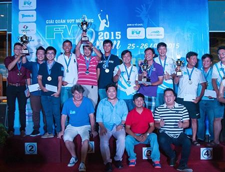 Các đội đoạt ngôi vô địch ở 4 nhóm Bạch kim, Vàng, Bạc và Đồng