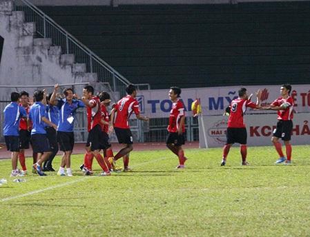 ĐT Long An giành quyền đi tiếp sau vòng 1/8 cúp quốc gia (ảnh: Nguyễn Đình)