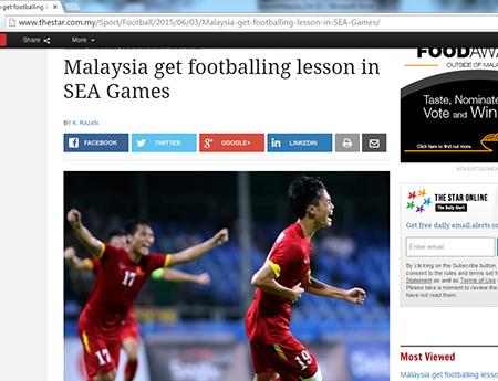 Báo chí Malaysia chua chát nhận định về đội nhà sau thất bại trước U23 Việt Nam