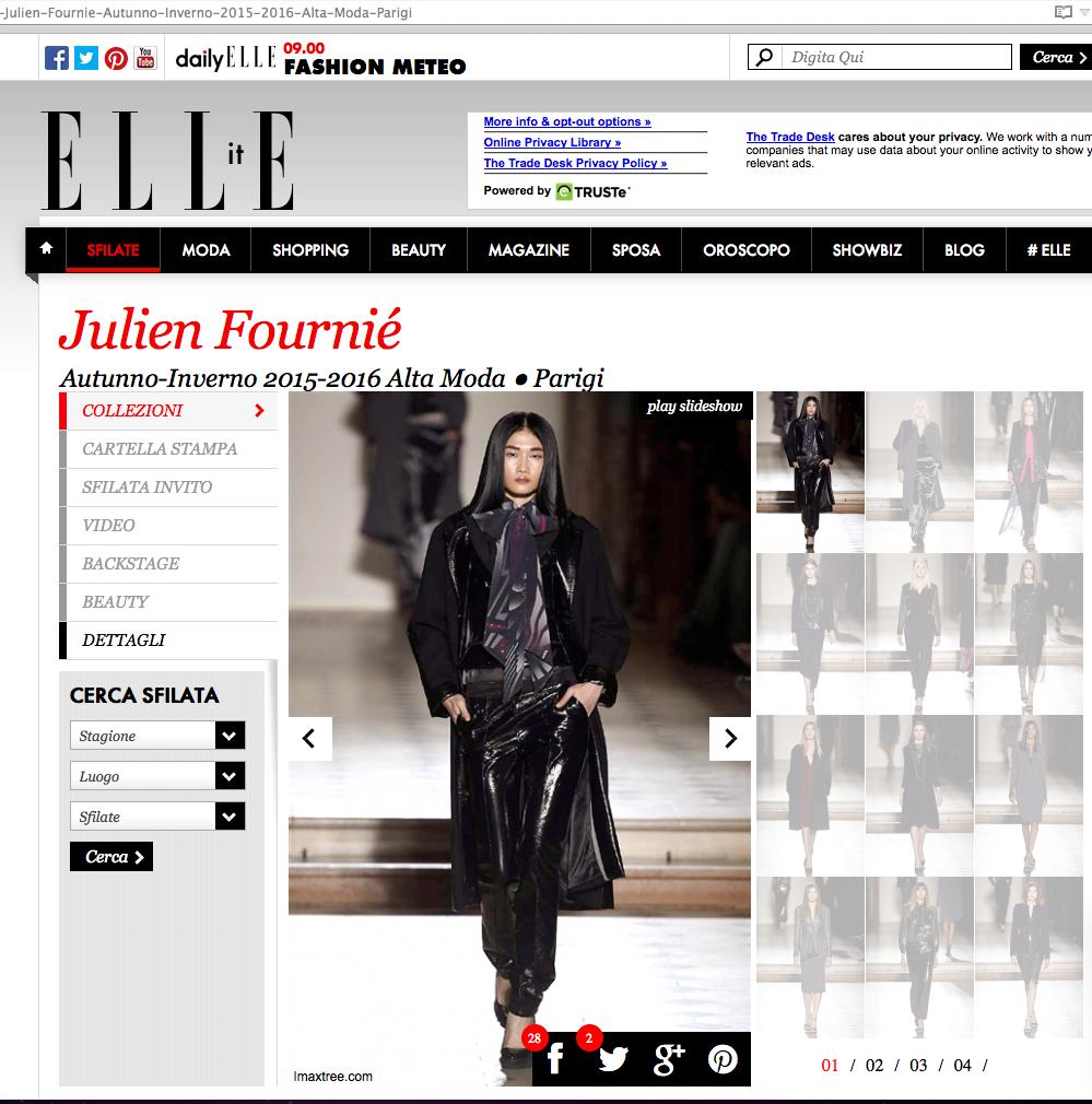 Phần trình diễn của Kha Mỹ Vân được giới thiệu trên trang web Elle