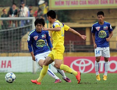 Chất lượng giữa 2 lò đào tạo SL Nghệ An và HA Gia Lai đang được thẩm định thông qua V-League