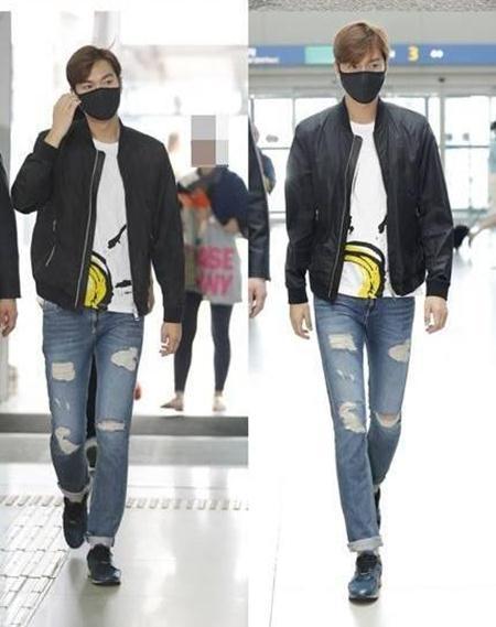Trước đó, ngôi sao đã bị bắt gặp tại sân bay Incheon