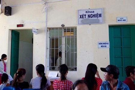 Khoa Xét nghiệm, bệnh viện Đa khoa huyện Hoài Đức (ảnh: Hải Nguyễn, Lao Động)