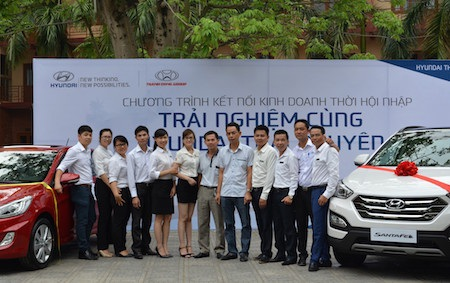 Hyundai Thái Nguyên - nhà tài trợ chính của chương trình trưng bày sản phẩm tại hội thảo