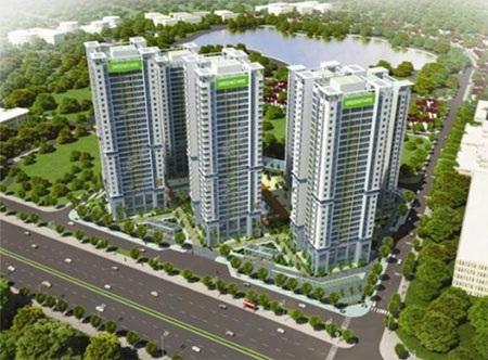 Quần thể khu đô thị TP Giao Lưu rộng 95ha, với điểm nhấn là hồ điều hòa rộng 15ha