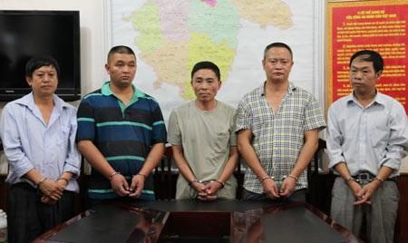 Nhóm nghi phạm mang quốc tịch Trung Quốc bị bắt giữ