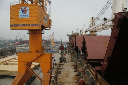 Hoạt động đìu hiu tại nhà máy đóng tàu Phà Rừng, 1 trong 8 đơn vị thành viên giữ lại của SBIC