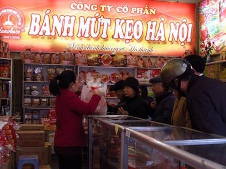 Bánh Mứt Kẹo Hà Nội sẽ đưa ra thị trường khoảng trên 300 tấn bánh, mứt, kẹo các loại.