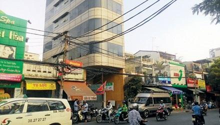 Trụ sở Cty H.T nằm trong tòa nhà cao tầng trên đường Lê Quang Định. Ảnh: Việt Văn.