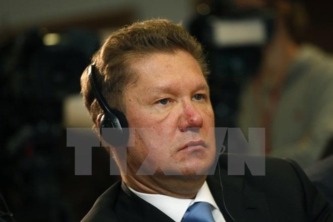 Người đứng đầu công ty năng lượng Gazprom Alexei Miller. (Nguồn: AFP/TTXVN)