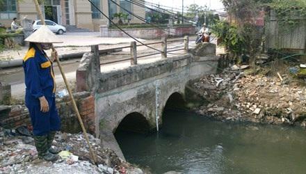 Hệ thống thoát nước thải của Khu đô thị Mỹ Đình- Mễ Trì. Ảnh: Như Ý.