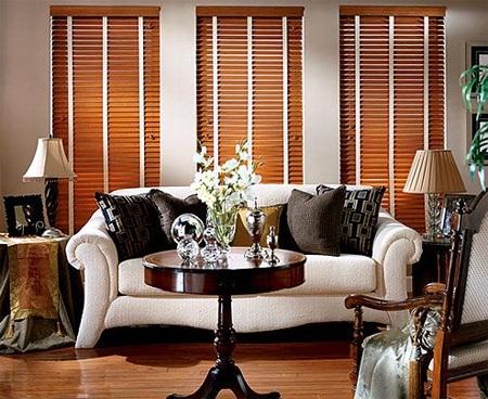 Rèm gỗ Minh Đăng tự nhiên mang lại cảm giác ấm cúng cho căn phòng.