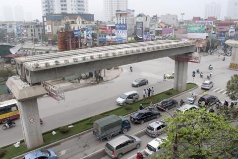 Dự án đường sắt Cát Linh - Hà Đông vừa đội vốn vừa chậm tiến độ