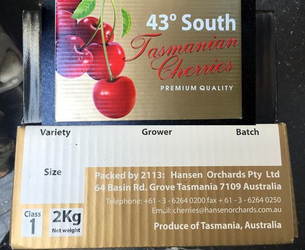 Theo thành viên Vịt Già, cherry này là hàng nhập khẩu từ Úc