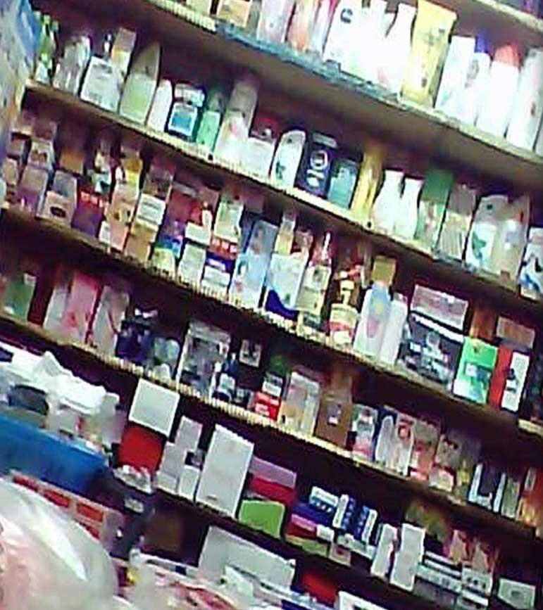 Một cửa hàng bày bán khá nhiều sản phẩm ghi có chứa collagen
