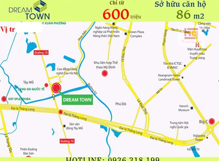 Dream Town có vị trí đắc địa, thuận lợi về giao thông giao thương