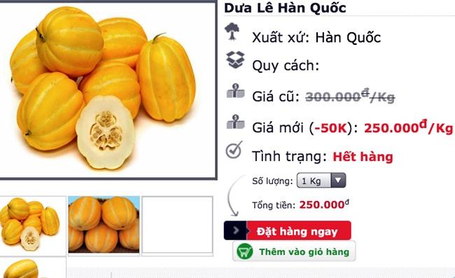Vào mùa hè, loại dưa này đang bán chạy, nhiều shop online liên tục thông báo hết hàng