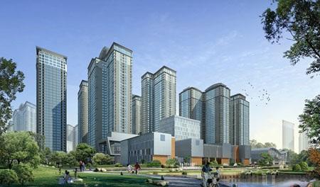 Phối cảnh tổng thể dự án Goldmark City, 136 Hồ Tùng Mậu, Hà Nội.