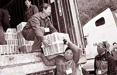 Xuất nhập khẩu hàng hóa tại cửa khẩu Tân Thanh, Lạng Sơn. Ảnh: VL