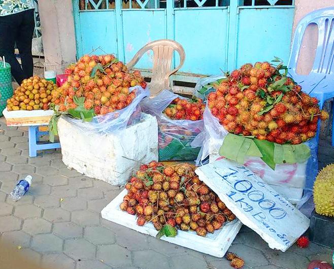 Mặc dù mới đầu mùa nhưng chôm chôm cũng chỉ có giá 10.000 đồng/ 1kg