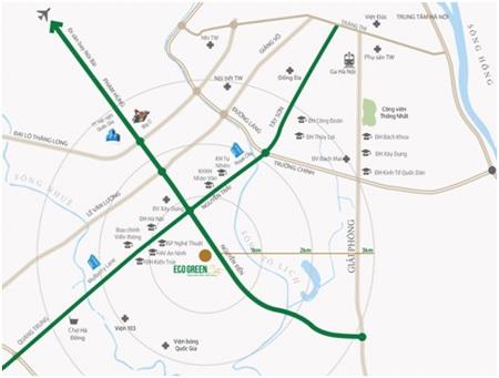 Bản đồ vị trí Eco Green City
